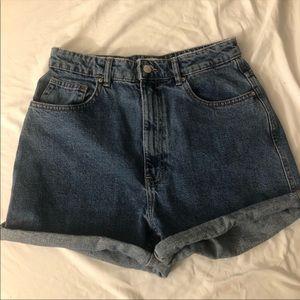 Zara denim mom shorts